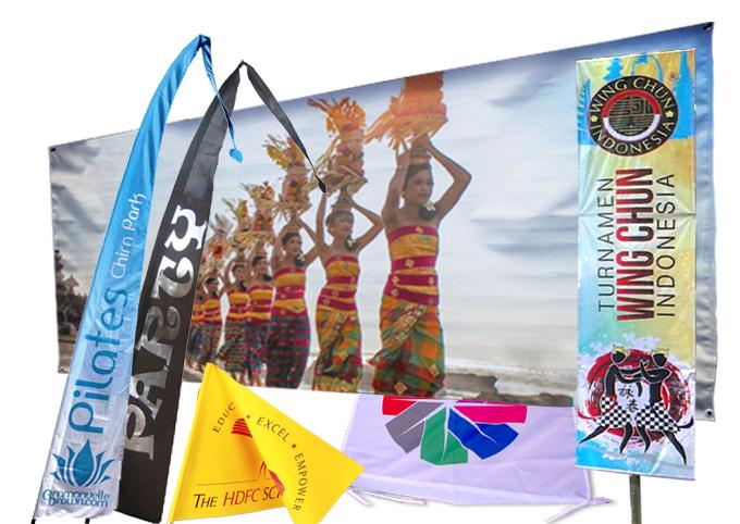 Banner & Balinese Flags at MahaMeru Bali