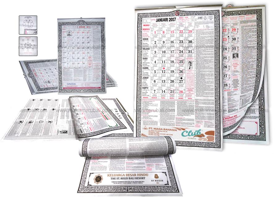 Balinese Calendar Printing 2019