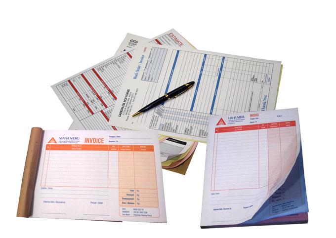 Cetakprint Nota Invoice Faktur Kwitansi Dan Jenis Buku